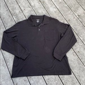 Black Long Sleeve Collared Shirt